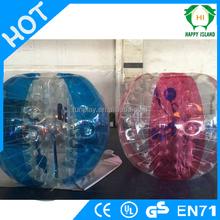 HI Popular price PVC/TPU bubble football parties, inflatable ball suit, human bubble ball