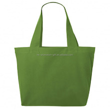 alibaba express china supplier Beautiful Hot Sale green cotton tote shopping bag