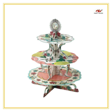2015 Flower Pattern Clear Cakecup Stand European Style Cake Stand