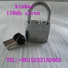 Malaysia market !! K105 silver color anti-theft padlock with alarm