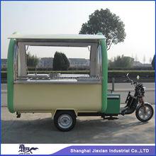 Automobile based practical JX-FR220G Mobile kitchen Service Cart/4 Wheels Electric outdoor Food Truck/mobile food vending