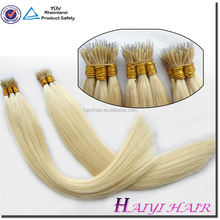Hair factory full cuticle tangle free 1g 0.8g nano ring hair extensions no split ends