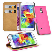 Colorful Fashion Flip Magnetic Stand Pu Leather Case Cover for Samsung Galaxy S5 Mini