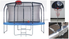 8ft professional gymnastic trampoline with basketball hoop