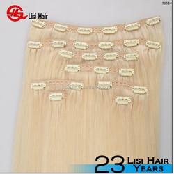 easy wear full cuticle remy clip in hair trade assurance 120g 160g 220g clip in hair invisible weft double drawn