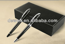 DEWEN BRAND Luxury Business gift pen set with metal ball pen roller ball pen