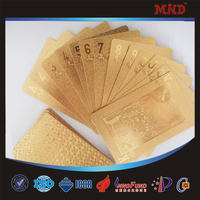 MDC1070 Custom silver gold plated playing card