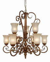 zhongshan manufacture popular Vintage Style 9 lights iron chandelier