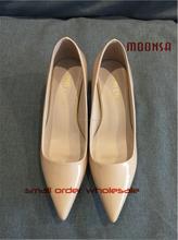 Xg0185 dedo del pie en punta tacón bajo los zapatos de vestir chicas