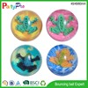 2015 eco-friendly promotional product 42 45 49 60mm dia transparant high bouncing kids toy rubber ball with 3D figure inside