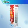 Enfriador de bebidas, pequeño refrigerador comercial con puerta de vidrio, una sola puerta del refrigerador con gran capacidad