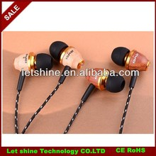 New Awei ES-Q5 Stereo Wood Headphones Earphones Earbuds For MP3 MP4 Cell Phone