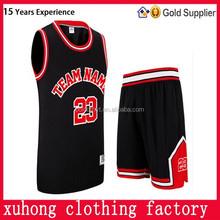 Custom Best Latest Basketball Jersey Design 2015 China Manufacturer