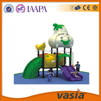 2014 New design and attractive outdoor playground equipment,Plastic material small outdoor children game euqipment