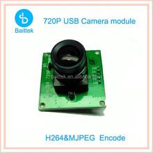 6mm Lens l.0Megapixel HD 720P Mini USB Camera module h264 CMOS for Linux System
