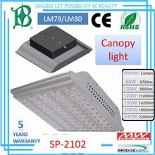 Singbee smart control system LM79&LM80&IP66&CE&ROHS,150W,5 WARRANTY LED canopy lights SP-2102
