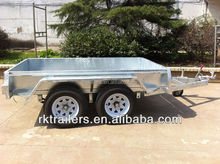 heavy duty galvanized strong box tandem trailer