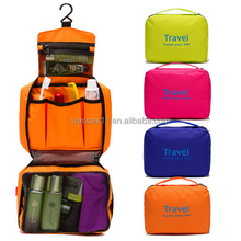 Foldable Cosmetic Bag Hanging Makeup Organizer Travel Toiletry Storage Bag