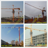 BV/CE appro. QTZ63 Tower crane shandong hongda QTZ63F (5810) lifting capacity 6 tons tower cranes
