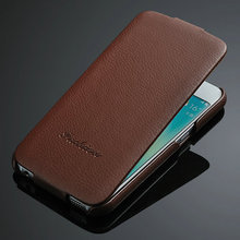 For Samsung Galaxy S6 edge Real Leather Flip Cases, high quality mobile case, for Samsung Galaxy
