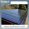 mounting solar mid clamp with solar ground bracket