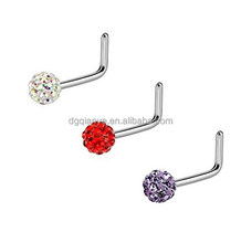 20G Nose Piercing L - Shaped Ferido Ball 316L Surgical Steel Ring