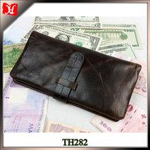 Crazy horse leather men wallet Long wallet men branded wallet