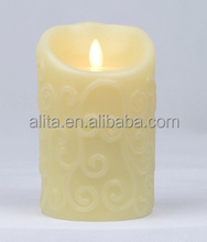 Moving Wick Flameless Candle LED wax candle light