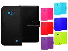 2015 new arrival Magnetic Wallet Flip Book Card Holder Leather Case Cover For Lumia 640 PU leather cover