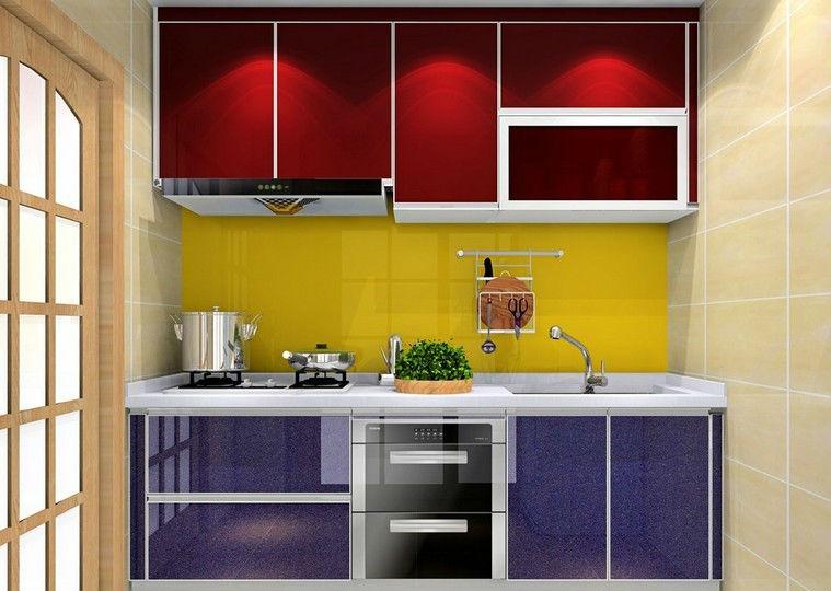 Aluminium dapur kabinet dengan dapur kabinet atas meja dan for Dapur set aluminium