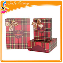 Popular decorative cardboard gift christmas boxes with lid