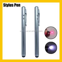 3 in 1 Cooper LED Light Red Laser Pointer White Stylus Touch Pen