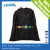Customize high quality black drawstring bag for sports