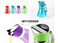 Non-toxic PP Plastic oilcan 600ml plastic seasoning container plastic oil sauce pot