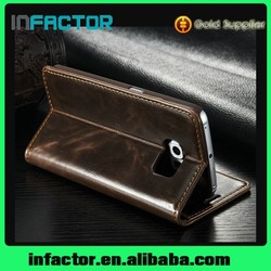 Upscale Wallet case Magnetic Flip Stand phone case PC PU Leather phone Case for Samsung Galaxy S6 G9200