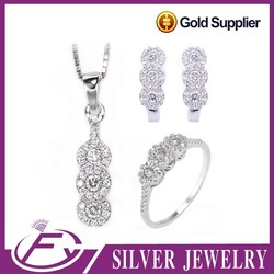 Hot selling wedding style pure sterling silver jewelry alibaba express