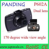 2.7'' Dual Lens H.264 Full HD 1080P Car Dash Camera DVR Cam With Motion Detection, dual cam car dashboard camera