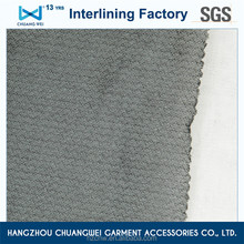 China 100% polyester fusible knitted 4 way stretch Woven fabric with Hot melt adhesive(5100) With SGS