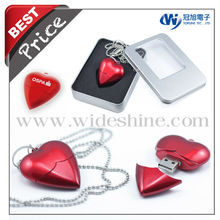 2013 Heart flash drive for valentine's day USB flash drive