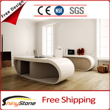 STOD-053 hot google desk krion solid surface round executive desk