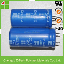 hot seller factory directed low ESR & high power long life span 2.5V 100F & 120F ultra capacitor super capacitor