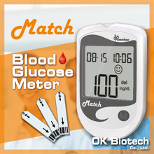 OKmeter Match Blood Glucose Medical Diagnostic Test Kits