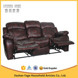 Leather recliner 3 seater sofa ,motion sofa in living room furniture for sale