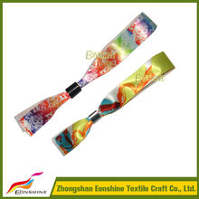 Great custom satin wristband with colorful sliding lock