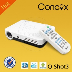Concox Q shot3 high brightness 3d movie projector home theatre mode with big screen
