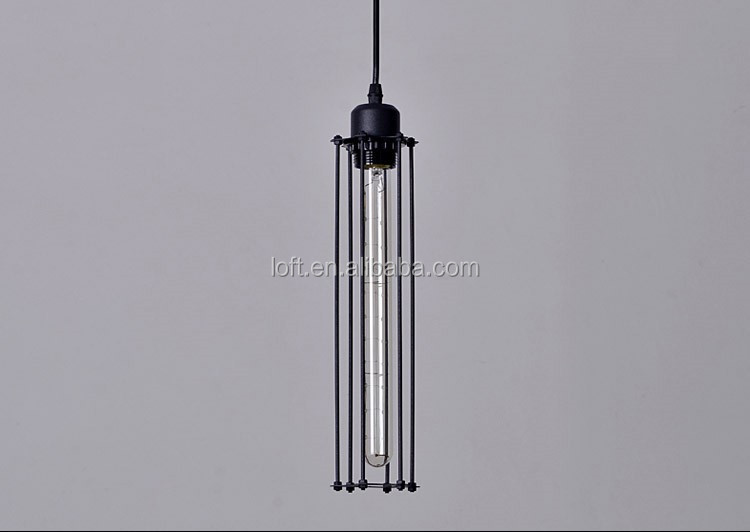 industrielle noir long cylindrique m tal industriel abat jour de la lampe restaurant pendentif. Black Bedroom Furniture Sets. Home Design Ideas