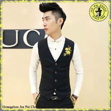 top brand black 100%wool sleeveless mens vest & waistcoats