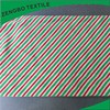 Striped print two sides fleece fabric for Christmas