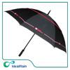 76cm radius pongee golf umbrella double canopy