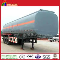 5000 litres tri-axle fuel/oil/milk/cotton oil tanker trailer